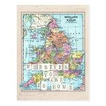 Dondequiera que usted sea es postal casera del map