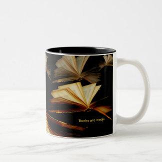Dondequiera usted quiere ir… taza de café de dos colores