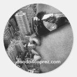Dondo New York Shot Classic Round Sticker