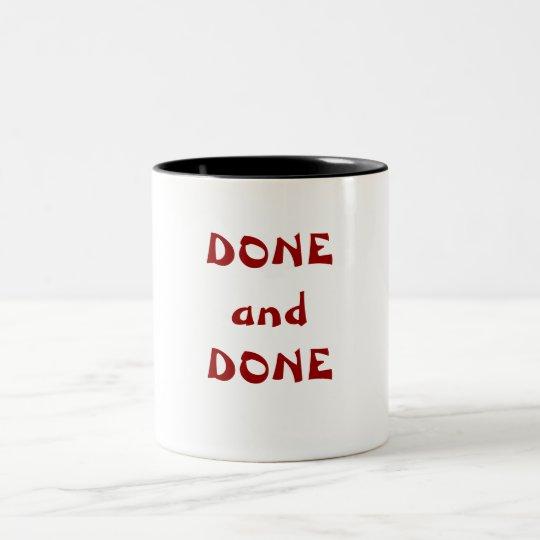 DONE and DONE Two-Tone Coffee Mug
