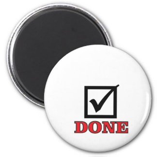 done check mark 2 inch round magnet