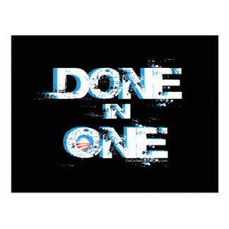 Done In One - Obama One Term Postcard