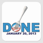 Done - January 20, 2013 - Anti Obama Square Sticker