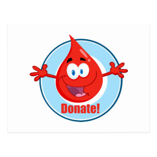 Done la sangre tarjetas postales