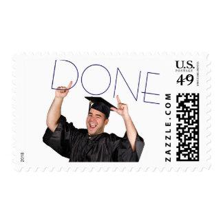 Done Navy Photo Graduation - Postage Stamp