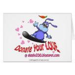 Done su amor con el conejito de la tarjeta del día