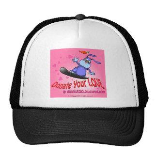 Done su amor con el conejito de la tarjeta del día gorras de camionero