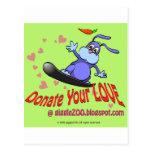Done su amor con el conejito de la tarjeta del día tarjetas postales