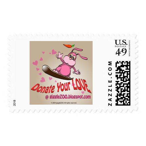 Done su amor con la tarjeta del día de San Sello Postal