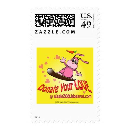 Done su amor con la tarjeta del día de San Sellos
