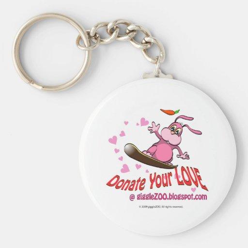 Done su amor con la tarjeta del día de San Valentí Llaveros Personalizados