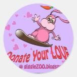 Done su amor con la tarjeta del día de San Valentí Pegatinas