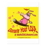 Done su amor con la tarjeta del día de San Valentí Postales