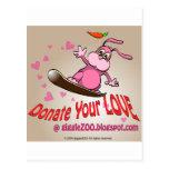 Done su amor con la tarjeta del día de San Valentí Tarjetas Postales