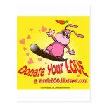 Done su amor con la tarjeta del día de San Valentí Postal