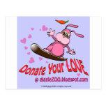 Done su amor con la tarjeta del día de San Valentí Tarjeta Postal