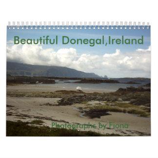 Donegal hermoso, Irlanda, calendario