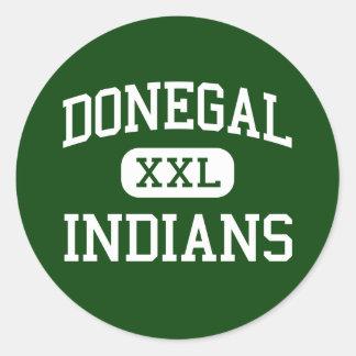 Donegal - indios - alto - alegría Pennsylvania del Etiqueta Redonda