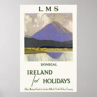 Donegal, Irlanda por días de fiesta Póster