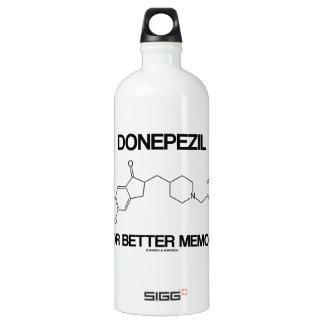 Donepezil For Better Memory (Chemical Molecule) Aluminum Water Bottle
