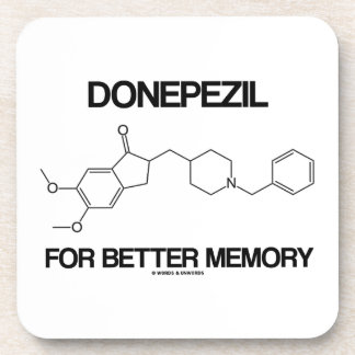 Donepezil For Better Memory (Chemical Molecule) Beverage Coaster