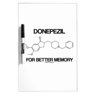 Donepezil For Better Memory (Chemical Molecule) Dry Erase Board