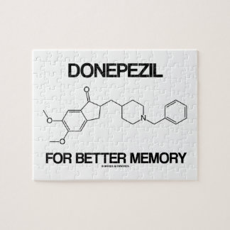 Donepezil For Better Memory (Chemical Molecule) Jigsaw Puzzle