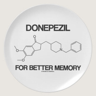 Donepezil For Better Memory (Chemical Molecule) Melamine Plate