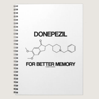 Donepezil For Better Memory (Chemical Molecule) Spiral Notebook
