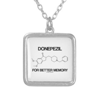 Donepezil For Better Memory (Chemical Molecule) Square Pendant Necklace