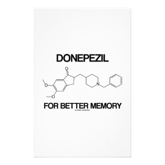 Donepezil For Better Memory (Chemical Molecule) Stationery