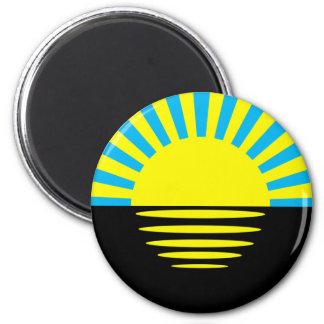 Donetsk Oblast, Ukraine flag 2 Inch Round Magnet
