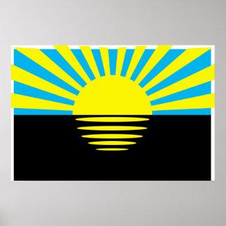 Donetsk Oblast, Ukraine flag Posters