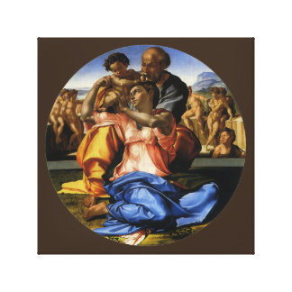 Doni Tondo or Doni Madonna by Michelangelo Canvas Print