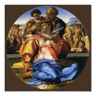 Doni Tondo or Doni Madonna by Michelangelo Personalized Announcement