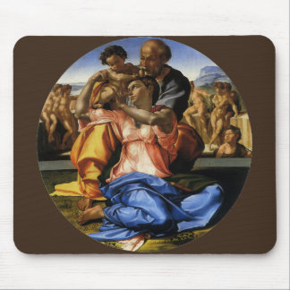 Doni Tondo or Doni Madonna by Michelangelo Mousepads