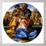 Doni Tondo or Doni Madonna by Michelangelo Print