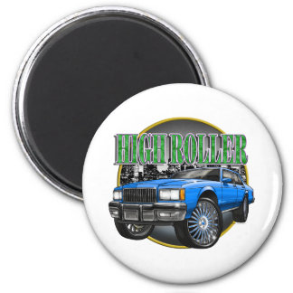 Donk Caprice Blue 2 Inch Round Magnet