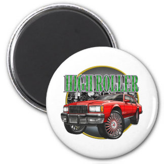 Donk Caprice Red 2 Inch Round Magnet