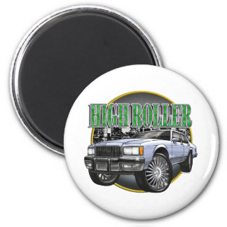 Donk Caprice Silver 2 Inch Round Magnet