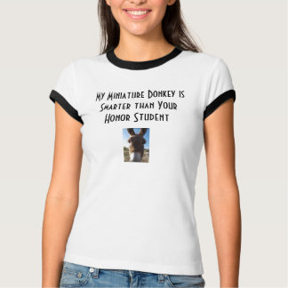 donkey1, donkey1, My Miniature Donkey is Smarte... Shirts