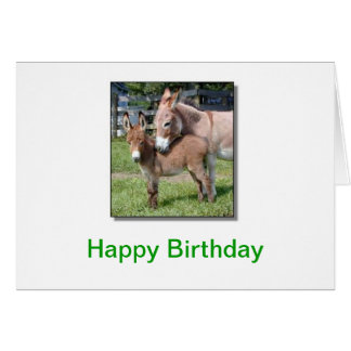 Donkey and Baby Card