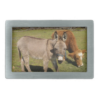 Donkey and Cow Belt Buckle