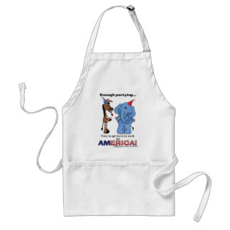 Donkey and Elephant Enough Partying! Adult Apron