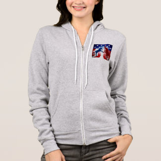 Donkey and Elephant Face Off Hoodie