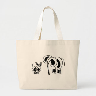 donkey and elephant friends canvas bags