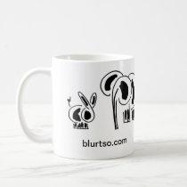 donkey and elephant friends coffee mug