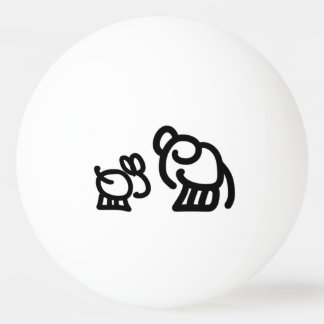 donkey and elephant Ping-Pong ball