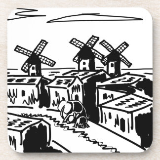 donkey and elephant in Spain Drink Coaster