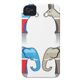 Donkey and Elephant Political Parties Case-Mate iPhone 4 Case
